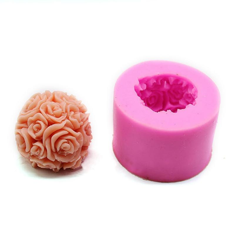 3d Peony Shape Silicone Fondant Molds Flowers Handmade Soap Candle Clay Mold