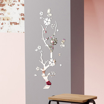 3D Wall Sticker Modern Lotus Non-toxic removable Flower Acrylic Mirror DIY Art Wall Sticker Mural Decal Creative Home Decor 1