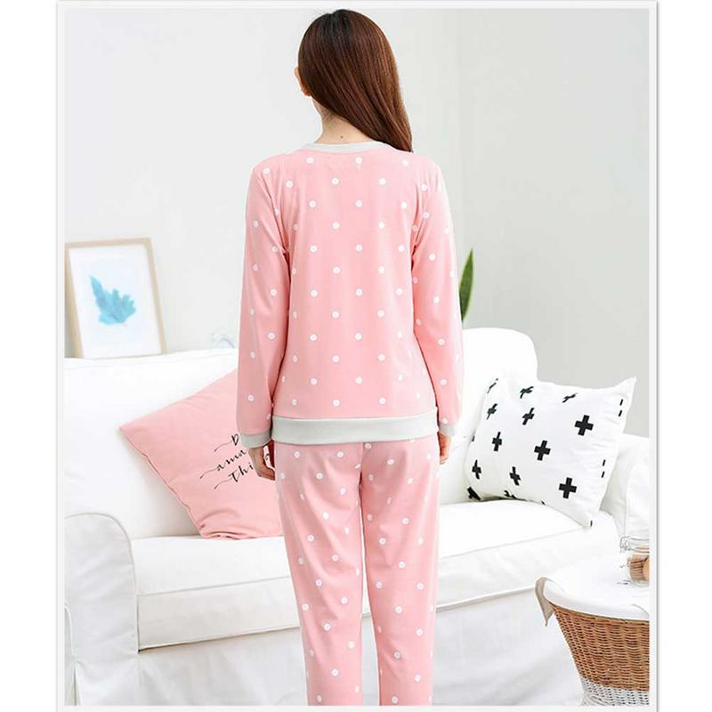 Ladies Spring Autumn Sleep Suit Sets Women