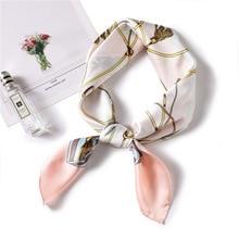 Ruicesstai 2019 spring summer new silk scarf luxury brand satin scarves square 70*70cm elegant women work neckerchief foulard