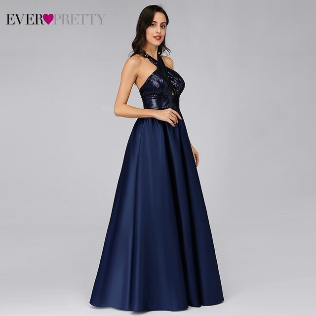 Prom Dresses Long Ever Pretty Sexy Backless Sleeveless Sequined Formal Dresses EP07858NB Elegant Party Gowns Robe De Bal Fille 2