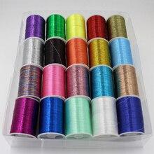 Нить для шитья, блестящая вышивка крестом, пряжа для шитья, нить для шитья, нитки для вышивки, шелковая линия, текстиль, металлическая пряжа#1108