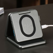 CASEIER 2 In 1 Qi Wireless Charger For Samsung S10 S9 S8 Dock Pad 5000 mAh Portable Power Bank External Battery Pack Powerbank