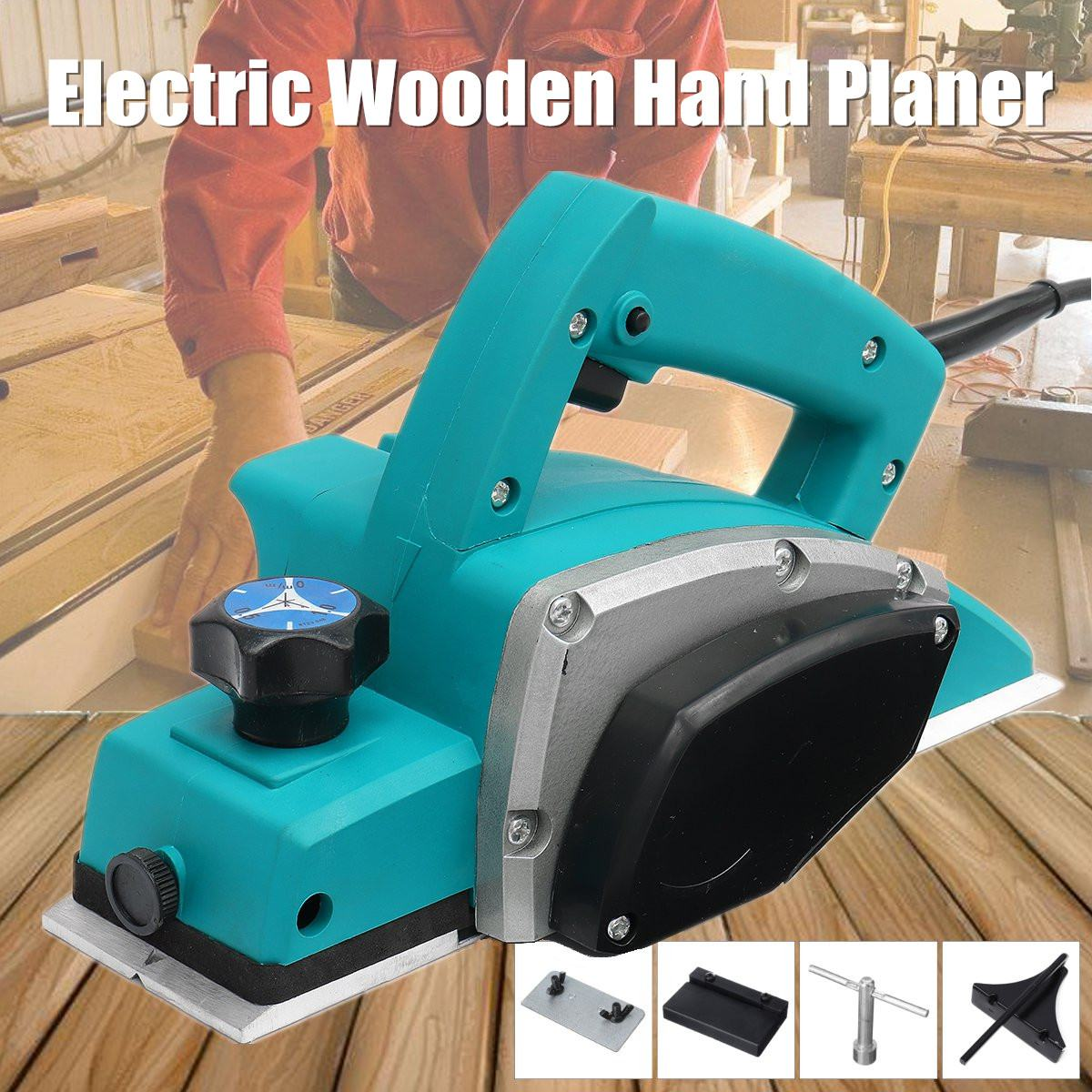 Multifunction 220V/110V 1000W Electric Planer Handheld Wooden Planer Carpenter Woodworking File Tool Home DIY Power Tools