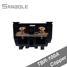 TBR-100A Terminal blocks Group Type 100A/600V General Purpose Connection Plate Copper Connector (10PCS) 2mbi100l 060 module igbt 600v 100a