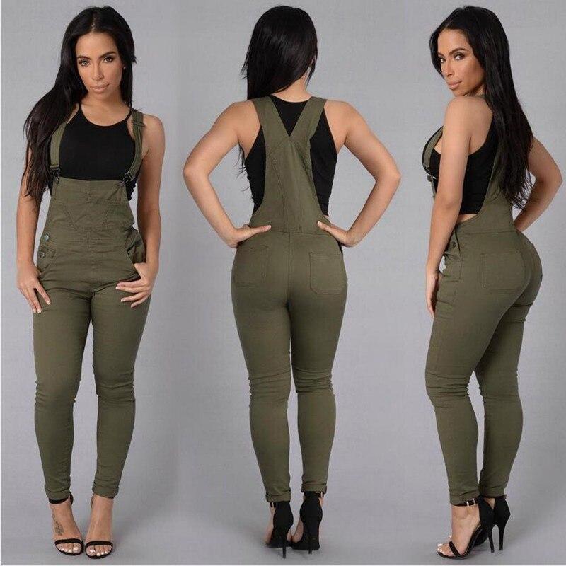 2019 Autumn Women's Casual Pencil Pants Large Size Denim Bib Female Jumpsuit Women Bodysuit AR018