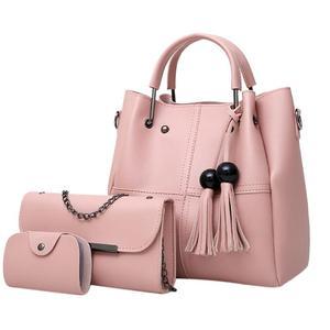 3Pcs/Sets Women Handbags PU Leather Shou