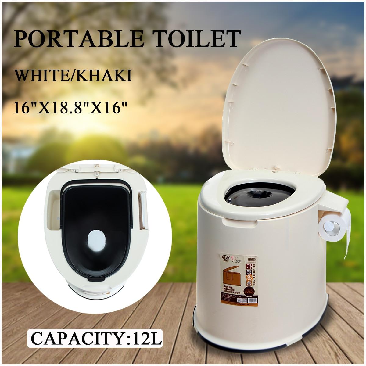 12L 2 dans 1 Capacité Multi-Fonction Confort Portable Toilettes toilettes mobiles Voyage Camping Commode Pot Extérieur/Intérieur