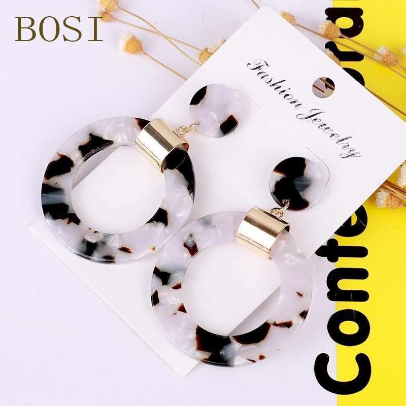 Earrings For Women Acrylic Boho 2019 Acetate Dangle Drop Earings Fashion Big Bohemian Accessories Geometric Luxury Trendy Face