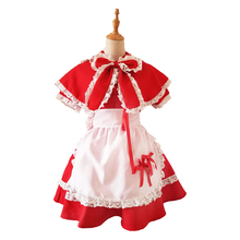 Annie LoL Cosplay Costume The Dark Child Adult Womens Red Hood Maid Dress