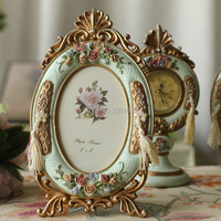 Creative Pastoral Retro Old Single 6 inch resin photo frame photo frame pendulum home furnishing wholesale