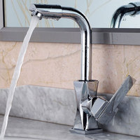 Bathroom Durable Kitchen Deck Mounted Single Hole Mixer Tap Basin Faucet 360 Degrees Home Modern Brass Fast Rotatable