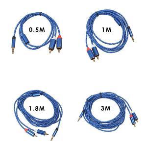 Image 3 - EastVita Cáp RCA 2RCA 3.5 Cáp Âm Thanh 3.5Mm To 2RCA Âm Thanh Phụ Trợ Aux Stereo Chia Cổng Cáp dây 0.5M/1M/1.8M/3M