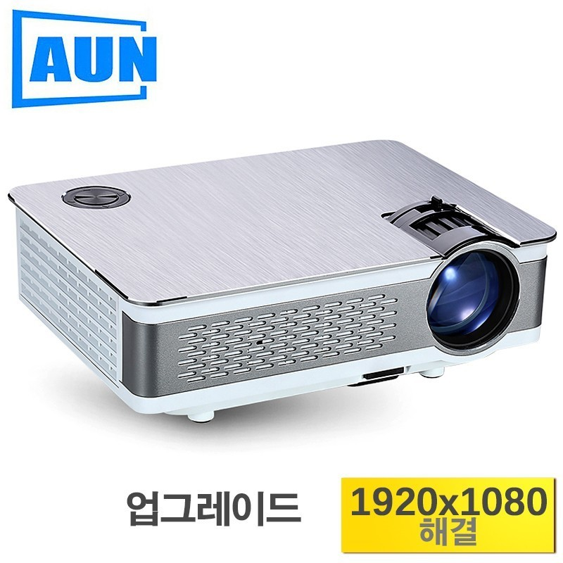 AUN AKEY5 Full HD Projecteur. mis à jour 3800-6000Lumen (Pic), 1920x1080 p (en option Android 6.0 LED projecteur soutenu 4 k, WIFI)