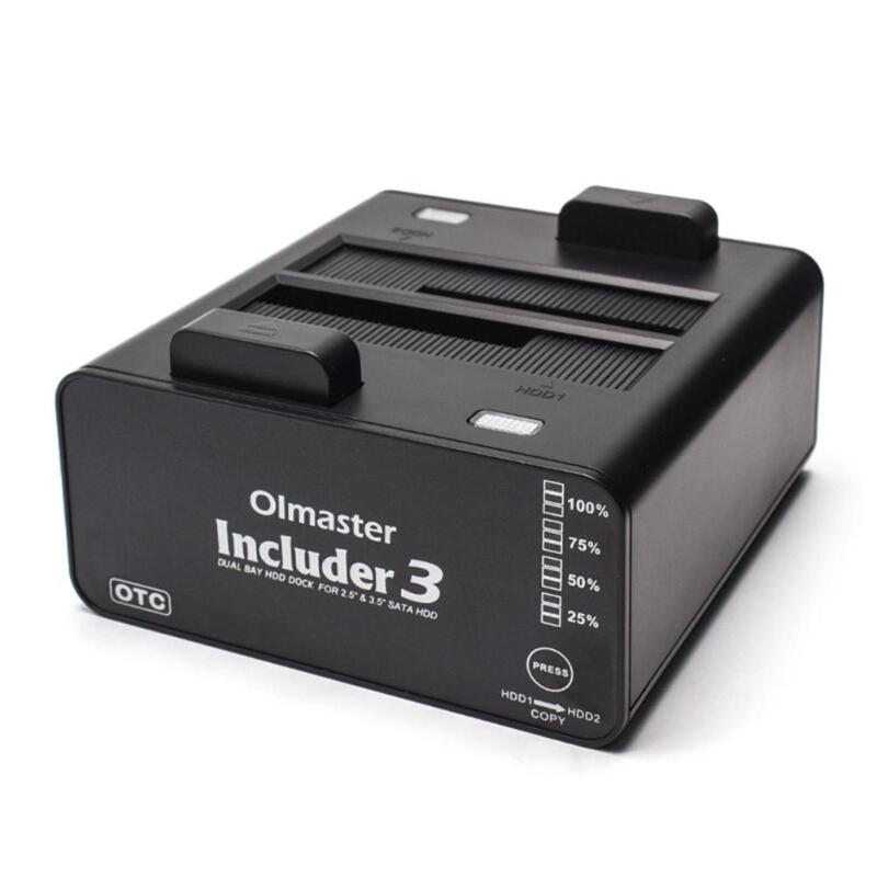 OImaster Includer 3 HED-2001U3 double baie SATA à USB 3.0 disque dur externe hdd Station d'accueil pour 2.5/3.5 pouces HDD boîtier ssd