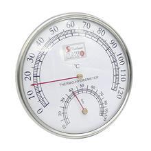 Термометр для сауны металлический корпус Паровая сауна термометр гигрометр для ванной и сауны Крытый открытый б/у