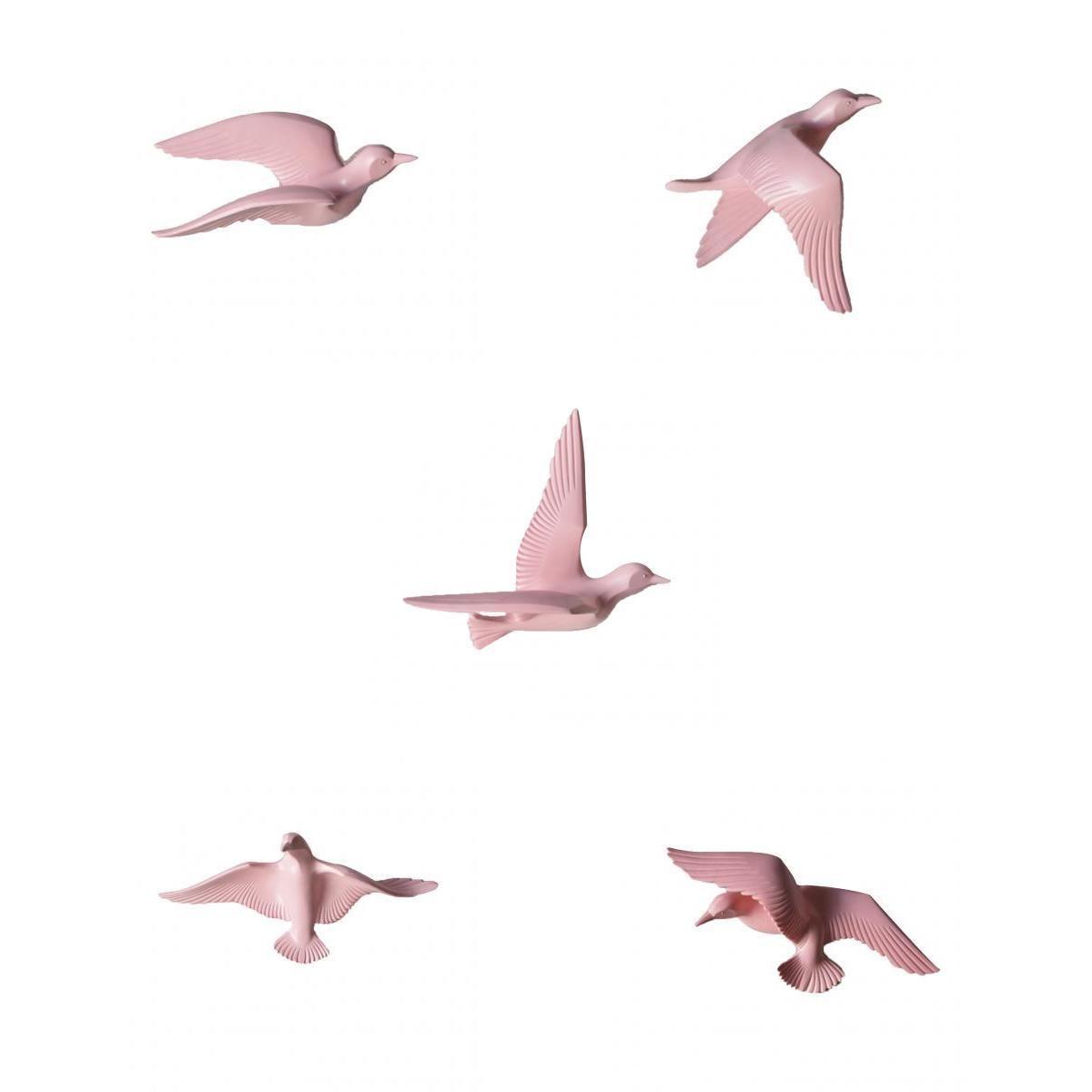 5 шт. дома декоративные резиновые 3D ручной Летающий Чайка товары для птиц стены книги по искусству скульптура висит декор розовый