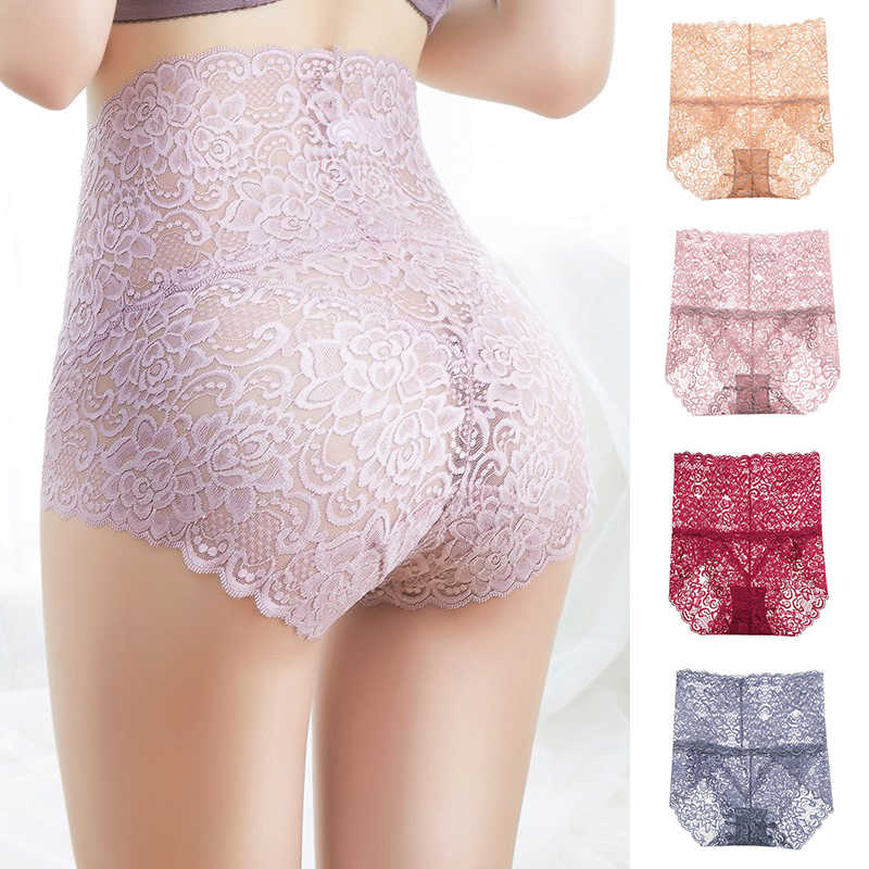 9deab422aa7 High Waist Sexy Intimates Popular Solid Seamless 1PC Hot Sale Transparent  Plus Size Lace Underwear Women