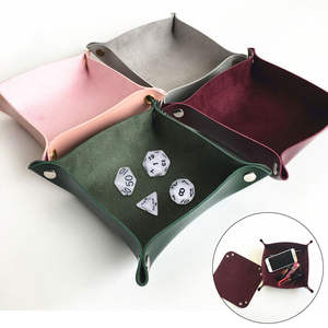 Foldable Table Games Key Wallet Coin Tray Storage Box
