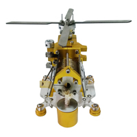 Transport Helicopter Horizontal Single Cylinder Vacuum Stirling Engine Model Kits Toys Model Building Kits Toys For Children