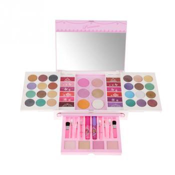 Disney Little Princess Girls Pretend Play Cosmetic Toy Box Kit Children Vanity Makeup Table Set Creative dressing table makeup
