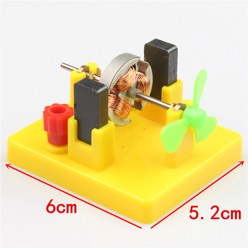 Kids DIY Mini Motor Model W/ Fan Toy Physics Electrical Experiment Educational Toy Learning Aids Student School Supplies