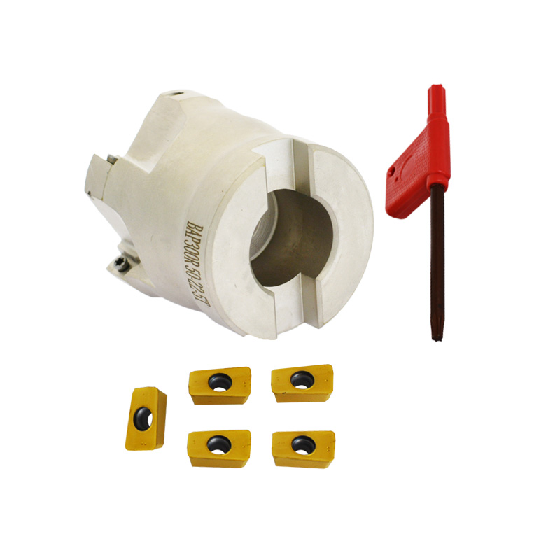 New BAP300R 50 22 5T right angle shoulder face mill cutter 5pcs inserts are fitted on the cutter for APMT1135 Insert in Tool Holder from Tools