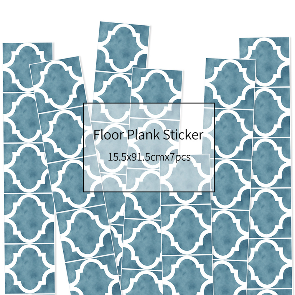 HXM 7pcs Floor stickers DIY Self adhesive Wall Tile Stickers Wood Grain Frosted Film Wallpaper Kitchen Living Room Decor #5