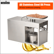купить Xeoleo Stainless steel Oil presser Commercial&Home Flax seed Oil press machine Cold&Hot press Oil machine suitable for Peanut онлайн