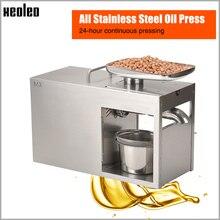 Xeoleo из нержавеющей стали масло прижимной 1500 W коммерческого и домашнего льна пресс для семян подсолнечника машины холодной и горячей масляная пресс-машина для арахиса/оливковый