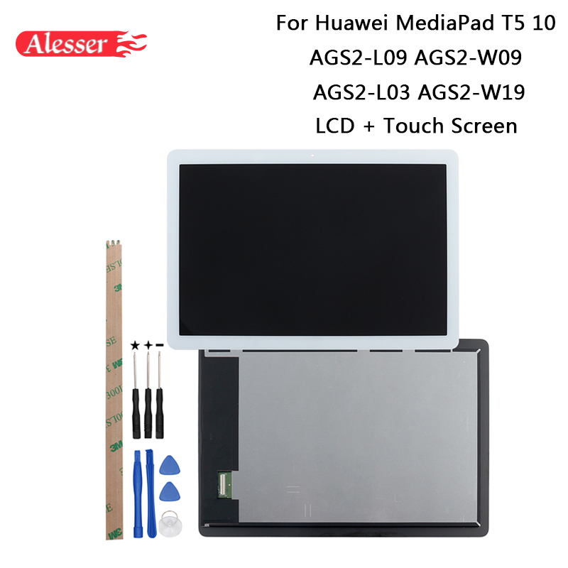 Alesser For Huawei AGS2-L09 AGS2-W09 AGS2-L03 AGS2-W19 LCD Display + Touch Screen + Tools + Adhesive For Huawei MediaPad T5 10Alesser For Huawei AGS2-L09 AGS2-W09 AGS2-L03 AGS2-W19 LCD Display + Touch Screen + Tools + Adhesive For Huawei MediaPad T5 10