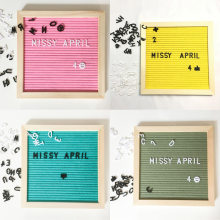 Wooden Frame Decoration Crafts Felt Letter Board Changeable Symbols Numbers Office Decorative Boards Characters Message Boards(China)