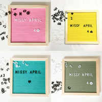 Wooden Frame Decoration Crafts Felt Letter Board Changeable Symbols Numbers Office Decorative Boards Characters Message Boards