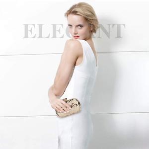 Image 5 - ผู้หญิงกระเป๋าประณีตหนังกระเป๋าถือโลหะHollow Designerงานแต่งงานกระเป๋าถือคลัทช์