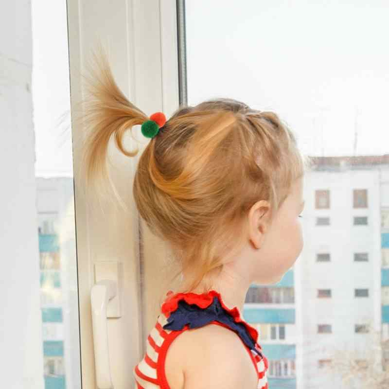 Детские брюки для девочек с двойным балабоны хвост Галстуки Веревки на голову эластичная повязка для головы с нахлестом заколки формирования банта из волос заколки с цветком для девочек вечерние заколки для волос для детей