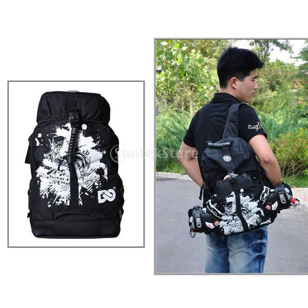 Roller Quad Skate and Inline Skate Sport Backpack for Men Women Outdoor Skating Accessories