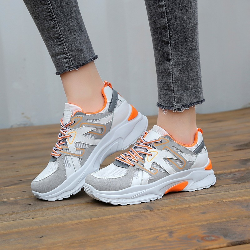 Female Brand Breathable casual shoes Thick bottom Stylish and comfortable Women's shoes Sneakers Flat shoes Hot Sale 2019 Summer