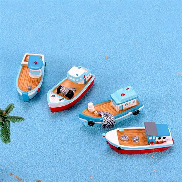Mini Mediterranean Style Ship Figurine