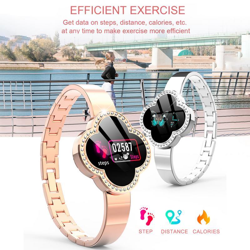 Moniteur de fréquence cardiaque d'écran de couleur S6 0.96 pouces affichage Bracelet féminin intelligent Bracelet féminin intelligent