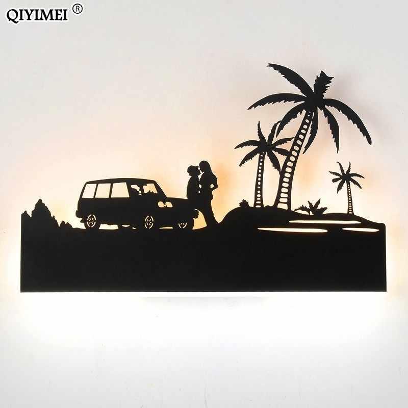 Романтические Настенные светильники акриловый абажур осветительный прибор перевернутый теплый вниз Холодный для гостиной прикроватные животные огни AC110-260V