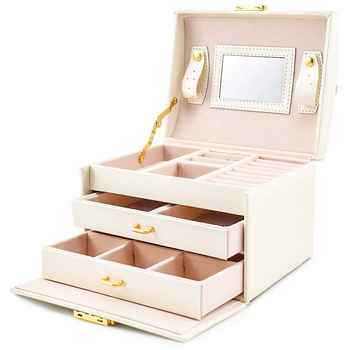 Jewelry box Case / boxes / makeup box, jewelry and cosmetics beauty case with 2 drawers 3 layers - DISCOUNT ITEM  20% OFF All Category