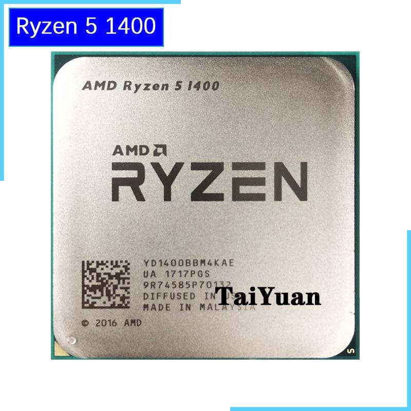 AMD Ryzen 5 1400 R5 1400 3.2 Ghz のクアッドコア CPU プロセッサ YD1400BBM4KAE ソケット AM4  グループ上の パソコン & オフィス からの CPU の中 1