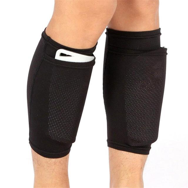 1 Pair Of Football Protective Garter Pocket Football Leggings Set Adult Children Support Socks 2019 New