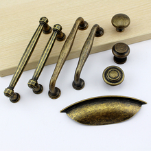Drawer Handle Wardrobe Closet Door Pull Handle Cabinet Drawer Kitchen Pull Handle Antique Old Bronze Classic High Quality new high quality european classic crystal zinc alloy antique bronze cabinets handle pull handle knob