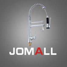 kitchen spring faucet Hot and cold water mix Double holes tap