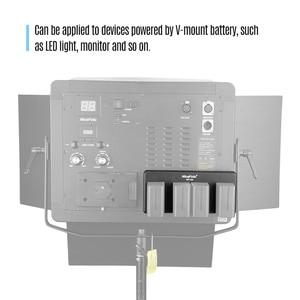 Image 5 - NiceFoto NP 04 NP F Batterij V Mount Batterij Converter Adapter Plaat 4 slot voor Sony NP F970 Batterij voor LED Video Licht