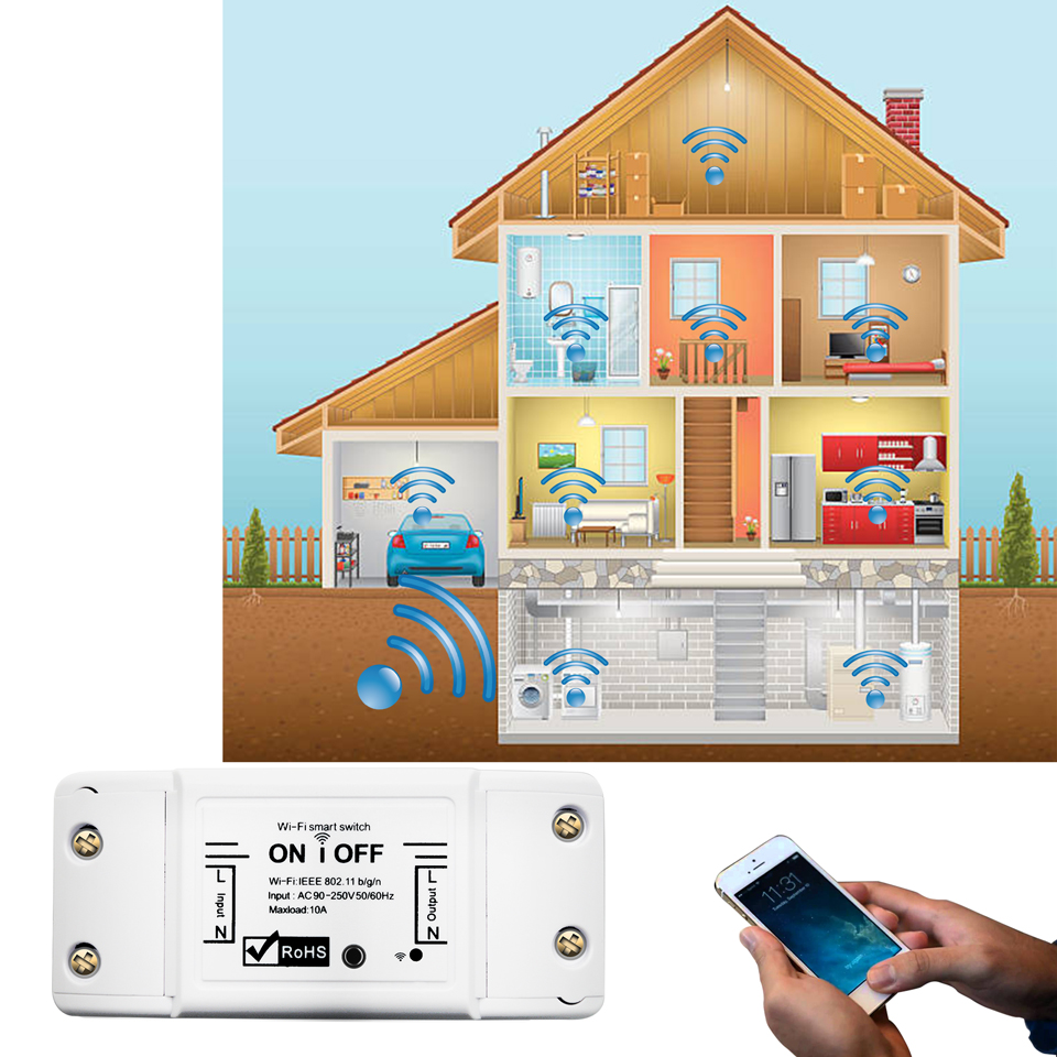2 4G Wifi Switch DIY Wireless Remote Domotica Light Smart Home Automation Relay Module Controller Work with Alexa in Home Automation Modules from Consumer Electronics