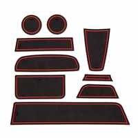 9 stücke Tür Nut Matte Für Lada Granta 2012-2018 Gummi Matte Anti-Slip Tor Slot Tasse Pad auto Styling
