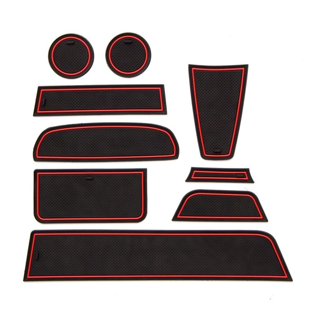 9pcs Door Groove Mat For Lada Granta 2012-2018 Rubber Mat Anti-Slip Gate Slot Cup Pad Car Styling