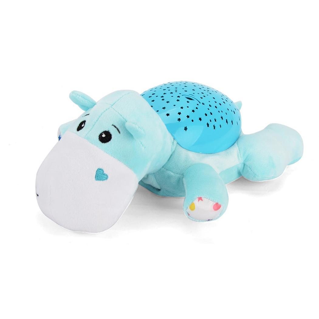 Toys Comfort Hypnotic Soft Projector AA Cartoon Projection Music Casual Unisex 3 Animal Plush Baby Years
